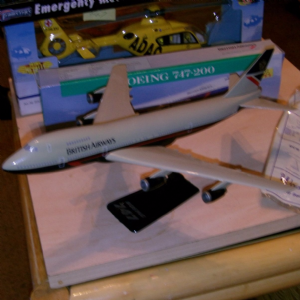 wooster Boeing 747-200 1:250 plastic display model plane British Airways @SOLD@